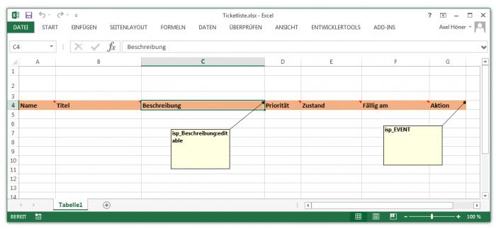 Die reichere Excel-Vorlage